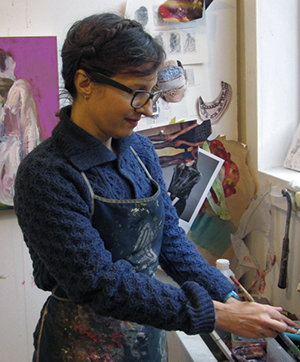 Jennine Scarboro at work in her studio